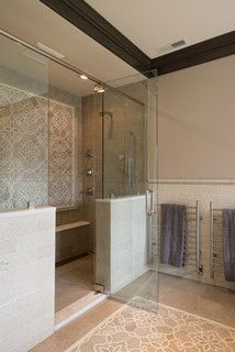 Master Shower Design Ideas, Pictures, Remodel and Decor New Bathroom Ideas, Small Bathroom, White Bathroom, Master Shower, Master Bathroom, Bathroom Renovations, Home Remodeling, Kitchen Cabinet Remodel, Plank Walls