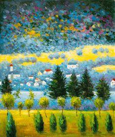Klimt - Pendio Montano a Unterach- overstockArt.com