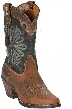 "Ariat Ladies Daisy Fancy Studded Western Boots  ... these seem like a good ""everyday"" boot. I'd totally wear 'em."