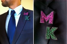 Well-Groomed: DIY String Art Boutonnieres