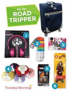 Long road trips call for plenty to keep everyone entertained. Stock up on crafts and electronics! #TuesdayMorning