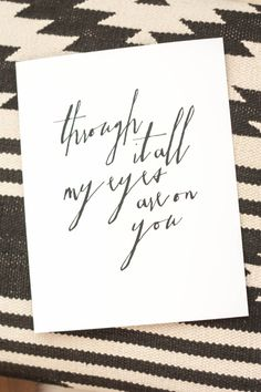 THROUGH IT ALL MY EYES ARE ON YOU | ineverything.ca/shop