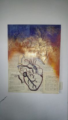 """Contemporary abstract artwork, music art,  black art, modern art, musical heart, abstract art  by Parrish Monk  """"Listen to Your Heart"""" Contemporary Abstract Art, Contemporary Artists, Modern Art, Different Kinds Of Art, American Indian Art, Hanging Art, Magazine Art, Abstract Expressionism, Vintage Posters"""