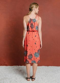 VESTIDO SILK BIG FLOWER - Vestidos - Verão na Toscana - Cantão