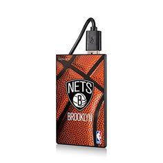 the latest cc37e c7125 Amazon.com  Brooklyn Nets Basketball Design 2200mAh Credit Card Powerbank  NBA  Sports   Outdoors