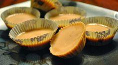 """Peanut Butter """"Banana"""" Cups Shared on http://www.facebook.com/LowCarbZen/"""