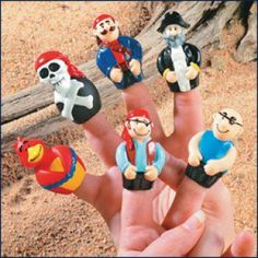 Pirate Party Supplies, Pirate Finger Puppets, Pirate Party Favors