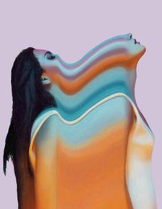 Colorful Glitch Portraits by Joshua Davidson – Fubiz Media Glitch Art, Costume Africain, Arte Obscura, Psy Art, Montage Photo, A Level Art, Portraits, Portrait Paintings, Art Graphique