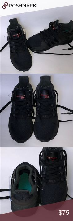 EQT adidas BNWT EQT black equipment adidas women size 6 and 4 in kids size adidas Shoes Sneakers