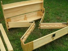 Bed in a Box ~ Plans for $6.95! http://3dwoodworkingplans.com/2013/12/25/king-bed-in-a-box-098/