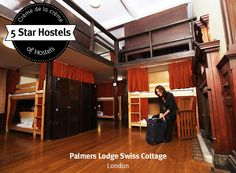 Tailor-made bunk beds with own privacy curtains! These are the dorms at Swiss Cottage Hostel London!
