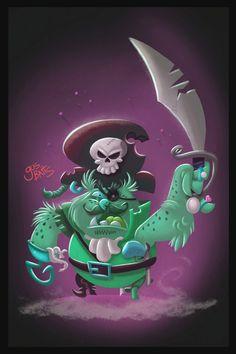 ArtStation - Ghost Owl Pirate Character design, Gus Batts