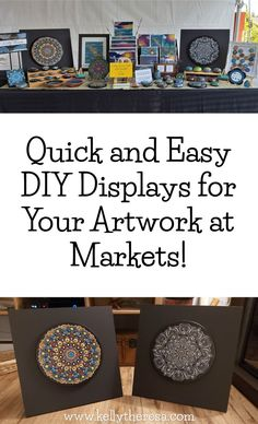 everything you need an art display to be when packing it from market to market! Small Closet Organization, Budget Organization, Selling Paintings, Selling Art, Wrapping Paper Storage, Getting Organized At Home, Craft Markets, Small Art, Craft Business