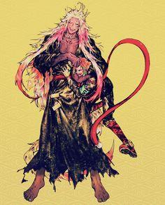 Enki and Samon Gokuu from Nanbaka