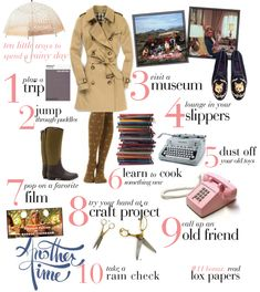 10 little ways to spend a rainy day