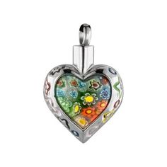 Flower Patch Heart Stainless Steel Cremation Jewelry ↪ Now only  $25.03 #cremationjewelry  #love  #ebay #amazoncollections #love