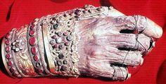 Ornamented mummified hand of a Greek Orthodox saint