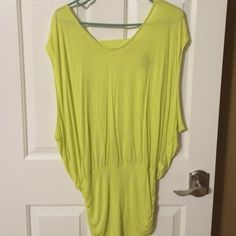 Bebe top Lime green shirt sleeve Bebe top. Back cut out detailing bebe Tops