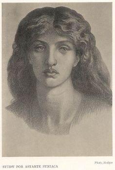 Study for Astarte Syriaca - D.G. Rossetti