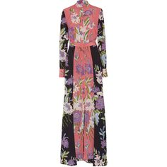 Diane von Furstenberg     Floral Floor Length Shirt Dress ($598) ❤ liked on Polyvore featuring dresses, diane von furstenberg, floral, flower print dress, floral maxi dress, maxi shirt dress, maxi dresses and long maxi shirt dress