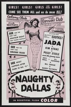 Naughty Dallas,not Bottoms Up but early Breck Wall & Bill Fanning