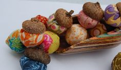 I thought it would be fun to create some fabric acorns made with real acorn hats. So, we headed out on a family hike to gather some nuts li...