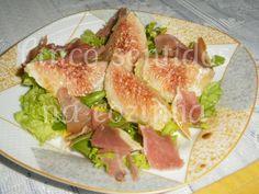 Cinco sentidos na cozinha: Salada verde de figos com presunto