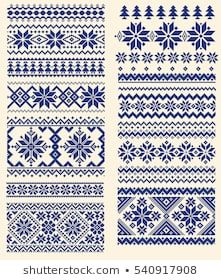 Nordic Pattern Pictures, stock photos and vectors included-Nordic Pattern Bilder, stockfoton och vektorer med Nordic pattern illustration - Cross Stitch Borders, Cross Stitch Designs, Cross Stitch Patterns, Fair Isle Knitting Patterns, Knitting Charts, Nordic Pattern, Viking Pattern, Cross Stitch Embroidery, Embroidery Patterns