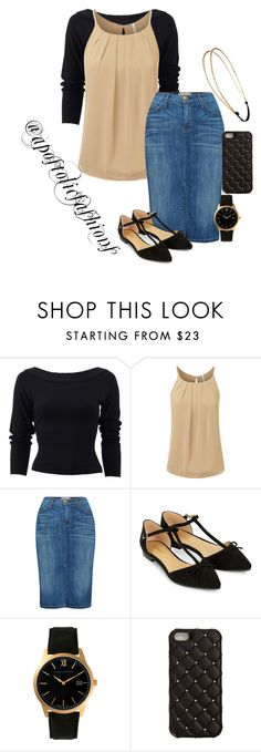 """Apostolic Fashions #1449"" by apostolicfashions on Polyvore featuring Donna Karan, Current/Elliott, Accessorize, Larsson & Jennings, 2Me Style and Chicnova Fashion"