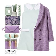 """#Romwe"" by credentovideos ❤ liked on Polyvore featuring Brooks Brothers, Paddywax, even&odd and Voluspa"