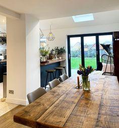 Kitchen Family Rooms, Kitchen Room Design, Living Room Kitchen, Kitchen Layout, Home Decor Kitchen, Interior Design Kitchen, Kitchen Ideas, House Extension Plans, House Extension Design