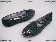 SENSO ELVIS LADIES SHOES FOREST LEOPARD LEATHER FLATS SIZE 36 NEW
