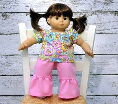 American Girl Bitty Baby Twin Silly Monkey by SewFunDollClothes, $18.00