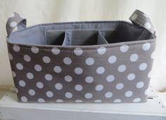 Diaper caddy Fabric Bins, Fabric Storage, Fabric Basket, Diaper Caddy, Tote Storage, Wipes Case, Baby Furniture, Furniture Ideas, Storage Solutions