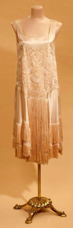 1920s satin dress.