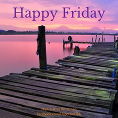 Happy Friday from Usborne Books & More!  Relax, sunset, dock, lake