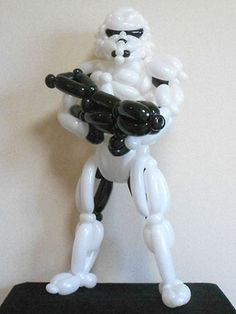 Balloon sculpture of Stormtrooper and other amazing balloon sculptures.