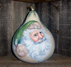 woodland santa gourd - Gourd Art Enthusiasts