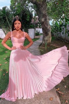 Pretty A-Line Straps Pink Prom Dress with Pleats Sleeveless Long Party Dress - ad. Pretty Pink Prom Dresses, Straps Pink Prom Dress with Pleats, Sleeveless Long Party Dress Source by Jen_celine - Pink Prom Dresses, A Line Prom Dresses, Grad Dresses, Event Dresses, Occasion Dresses, Pretty Dresses, Homecoming Dresses, Beautiful Dresses, Dresses Dresses