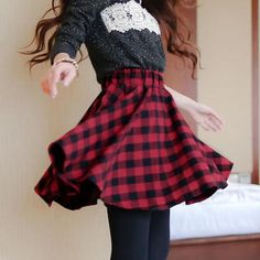 Buy 'Tokyo Fashion – Elasticized-Waist Buffalo Plaid A-Line Skirt' with Free International Shipping at YesStyle.com. Browse and shop for thousands of Asian fashion items from Taiwan and more!