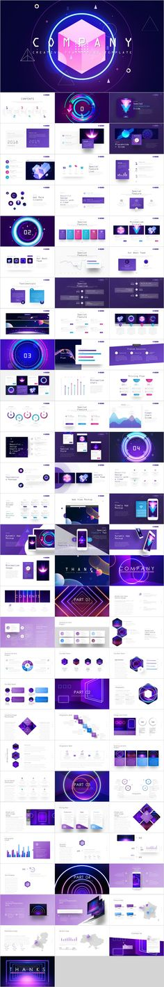 2 in 1 company report design PowerPoint template Simple Powerpoint Templates, Professional Powerpoint Templates, Keynote Template, Business Design, Business Company, Presentation Layout, Report Design, Startup, Web Design Inspiration
