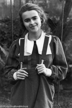 A 17-year-old Helena Bonham Carter wearing baggy dungarees, 1984. : OldSchoolCool