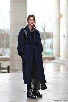 Vanille at Paris Fashion week, street style