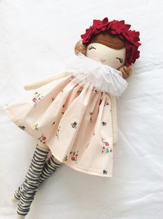 Little Miss Tippy Toe Clothdoll by NatalieCreating on Etsy