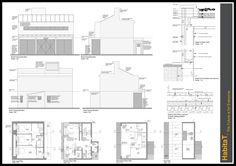 Habitat, eco home - detail drawing