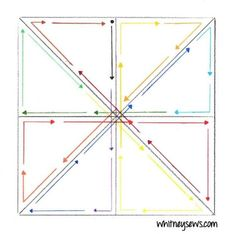 Straight Line Quilting a Pinwheel - Quilting Quicky - Whitney Sews Quilting Stitch Patterns, Machine Quilting Patterns, Quilt Stitching, Longarm Quilting, Free Motion Quilting, Quilting Tips, Quilting Tutorials, Quilt Patterns, Quilting Stencils