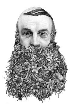 Now that's a freakishly flowery beard.