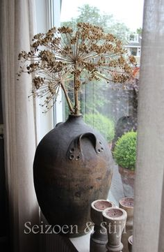 Plans in the making for this stunning vase. Wabi Sabi, Large Flower Pots, Keramik Vase, Beautiful Interiors, Home Decor Inspiration, Modern Rustic, Country Decor, Fall Decor, Home Accessories