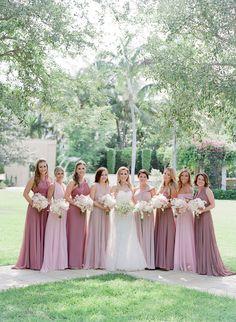 2b94ffea0eee Blush & Mauve Bridesmaid Dresses Photography: Jose Villa Read More:  http:/