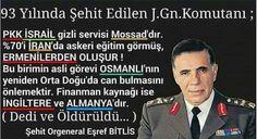 Teröre şehit verdiğimiz Eşref Bitlis paşa.
